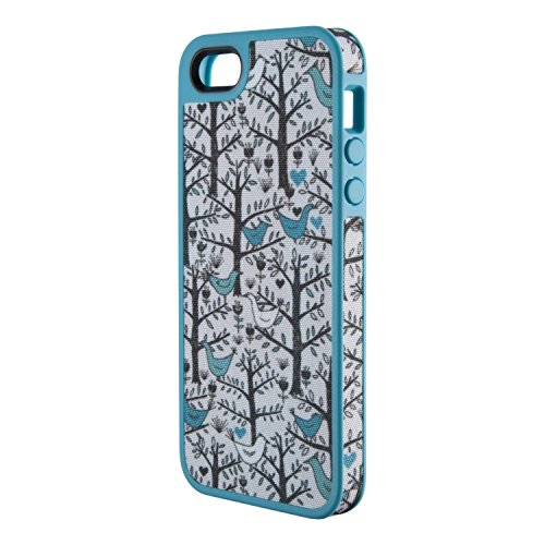 Price comparison product image Speck Products FabShell Fabric-Covered Case for iPhone 5 & 5S  - LoveBirds Peacock Teal