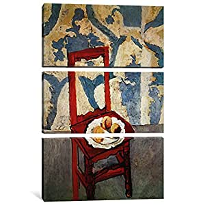 """iCanvasART 3 Piece Chair with Peaches Canvas Print by Henri Matisse, 60"""" x 40""""/1.5"""" Depth"""