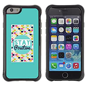 iKiki Tech / Estuche rígido - Stay Positive Colorful Quote Motivational - Apple iPhone 6 PLUS 5.5