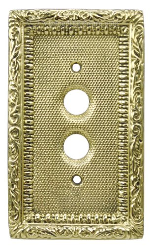 Victorian Single Gang Push Button Switchplate Cover (L-W7)