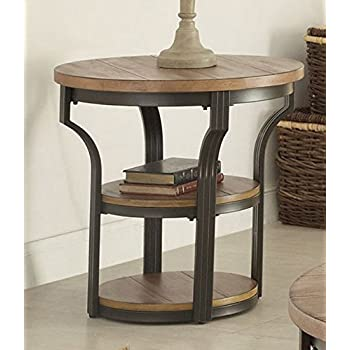 Amazon Com Acme Furniture 80461 Geoff End Table Oak