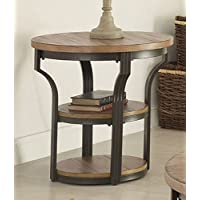 ACME Furniture 80461 Geoff End Table, Oak & Black