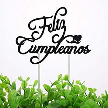 Spainish Feliz Cumpleanos Cake Toppers Russian Happy ...