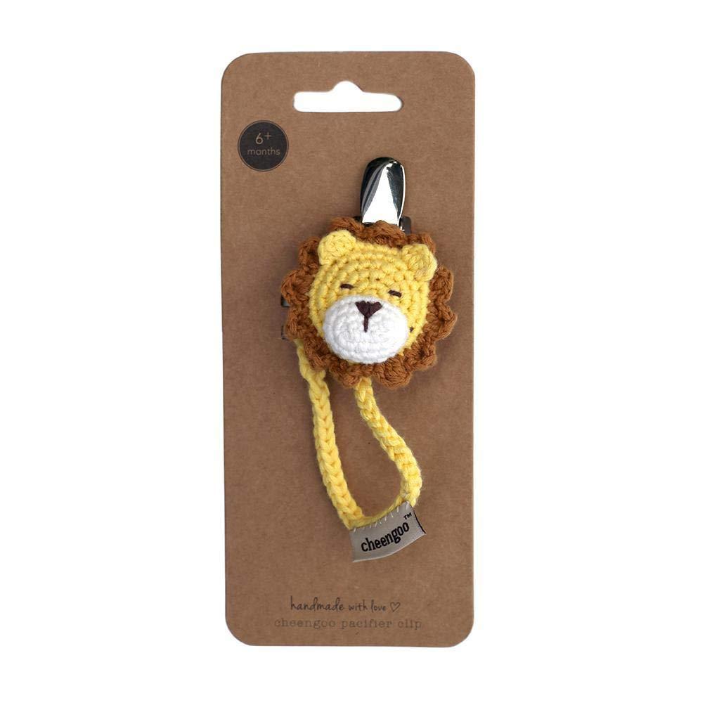 Amazon.com: Cheengoo - Clip para chupete, diseño de león: Baby