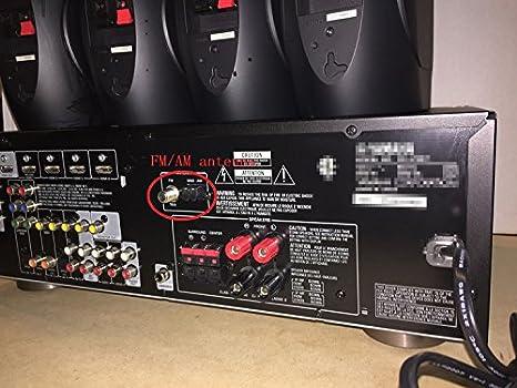 Eightwood AM Loop Antenne 3 Pin-Antenne f/ür Sony HiFi-Serie Sharp Stereo AV Receiver Tuner Audio System MEHRWEG