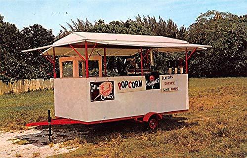 Advertising Post Card Popcorn, Cotton Candy, Sno-Kones Cart Tow Cart Unused (Cart Sno Kone)