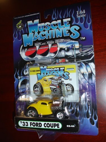 Muscle Machines 33 Ford Coupe Yellow 1:64 Scale by Funline by Funline