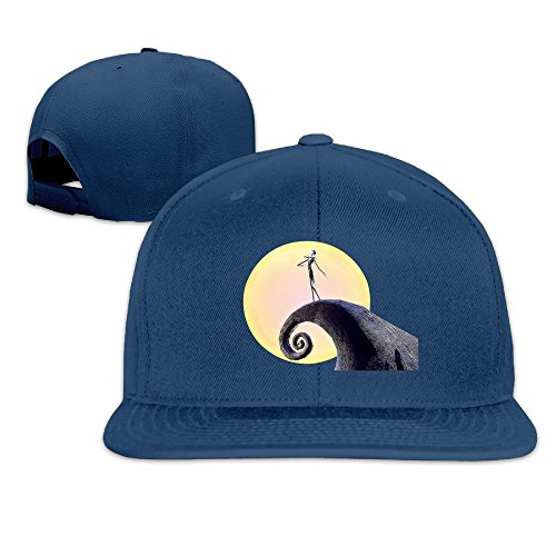 Karoda JACK's Nightmare Flat Brim Baseball Caps Hip Hop Hat Navy ()