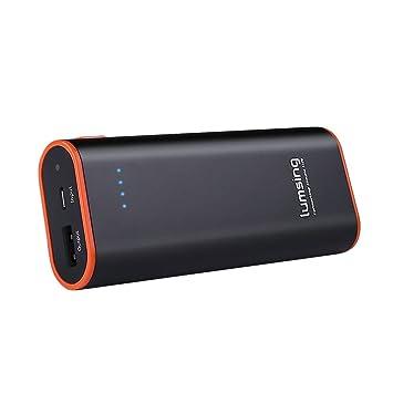 Lumsing Batería externa 6700mAh, Cargador portátil externo, Power bank para iPhones, iPads, Samsung Galaxy, Android y otros Smartphones (Negro): Amazon.es: ...