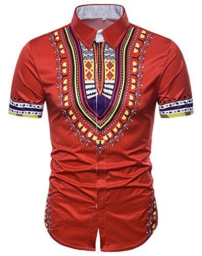 تی شرت سفید آستین کوتاه یونیسکس آستریکایی Afro Dashiki