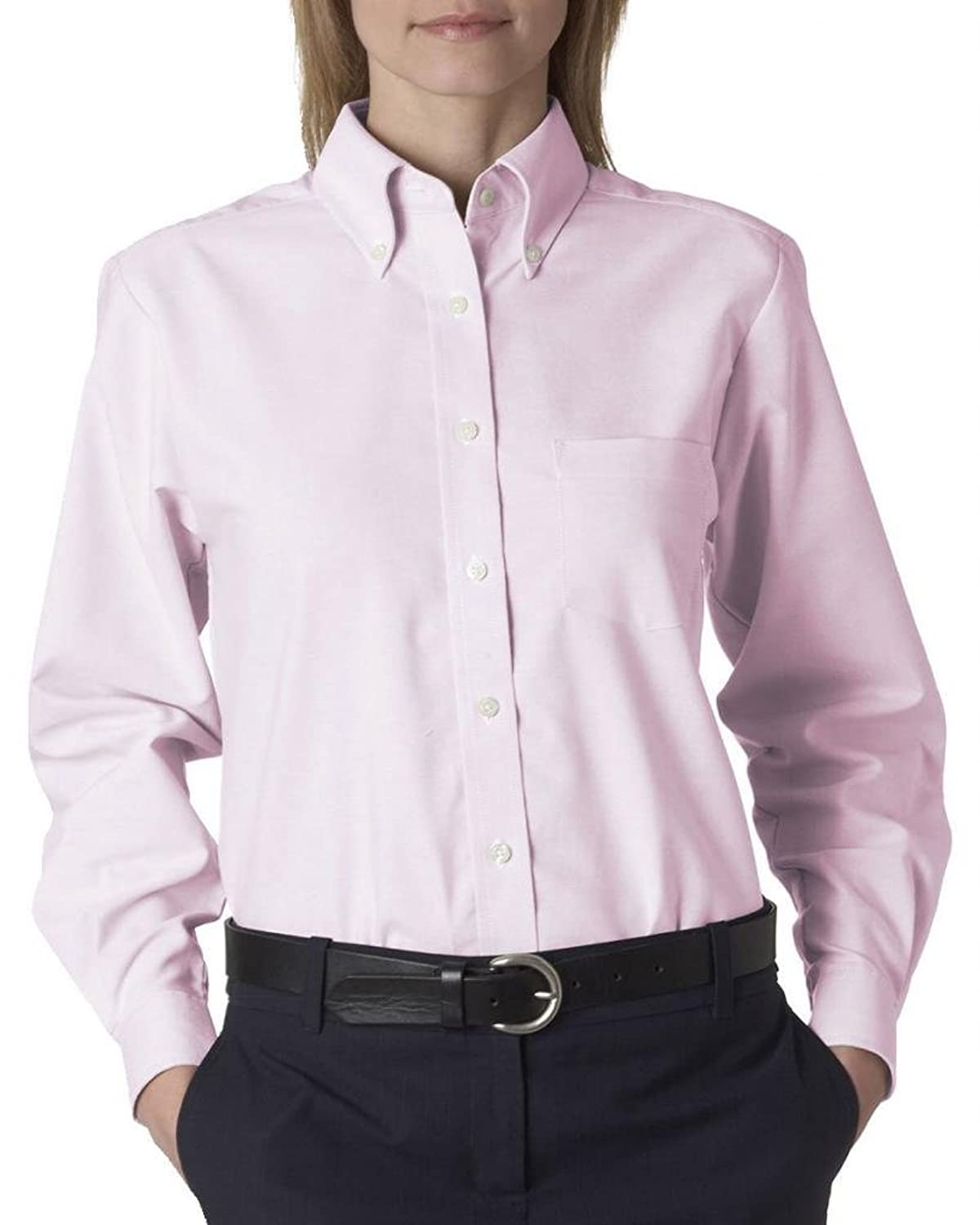 Long sleeve white button down shirt custom shirt for Wrinkle free dress shirts amazon