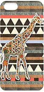 Giraffe Design Slim and Stylish Protective Iphone 5 Case, Perfect fit Snap On Hard Cover