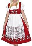 Dirndl Trachten Haus 3-Piece Long German Wear Party Oktoberfest Waitress Dress 16 46 Red