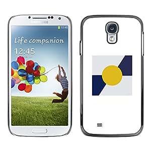 Be Good Phone Accessory // Dura Cáscara cubierta Protectora Caso Carcasa Funda de Protección para Samsung Galaxy S4 I9500 // Sun Minimalist Blue White Poster