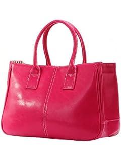 Ginkgo Store Fashion Women Korea Simple Style PU leather Clutch Handbag Bag  Totes Purse Orange a2294082a1b08