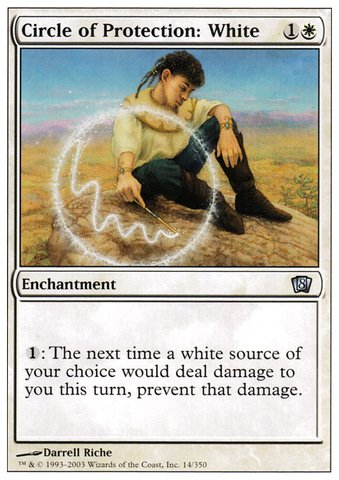 Magic: the Gathering - Circle of Protection: White - Eighth Edition