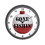 CafePress – GONE FISHING Home Decor – Unique Decorative 10″ Wall Clock