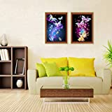 2 Pack 5D Full Drill Butterfly Diamond Painting