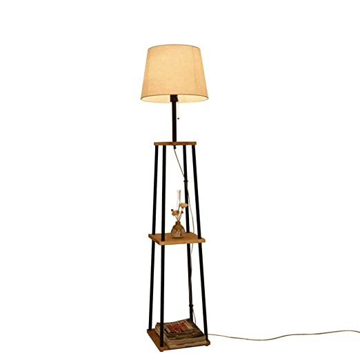 Lámpara de Mesa QFFL Lámpara de pie de Madera Maciza Lámpara de ...