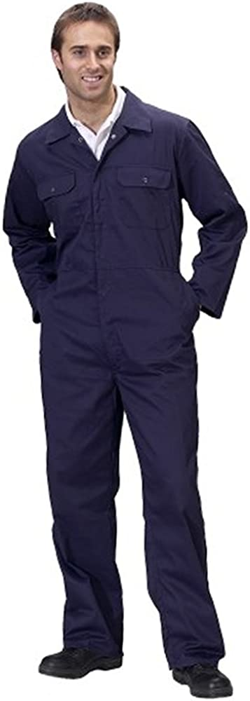Unisex Protective Safety Work Wear with Press Studs /& Elasticated Waist Tough Gear Boiler Suit Coveralls for Men and Women Heavy Duty Work Overalls for Construction Site and Domestic Purpose