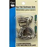 Dritz Metal Key Fob Hardware Sets Bonus Pack-Silver by Dritz