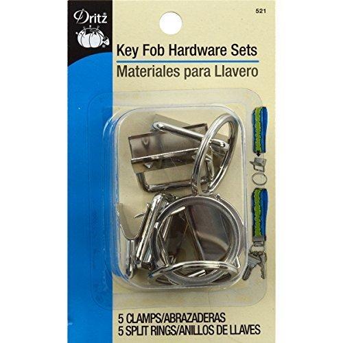Dritz Metal Key Fob Hardware Sets Bonus Pack-Silver by Dritz by Dritz