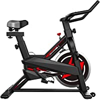 Fitness 6105 Indoor Cycling Exercise Spin Bike for Professional Cardio Workout Indoor Red