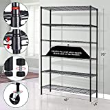 Storage Metal Shelf Wire Shelving Unit with Wheels