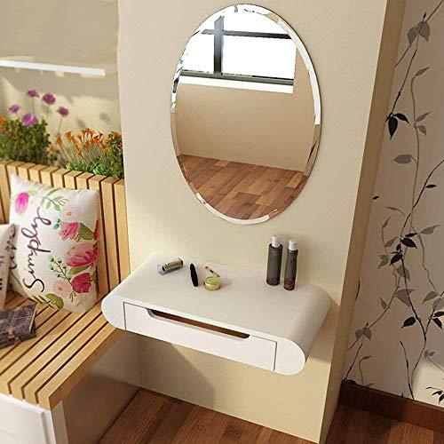SED Pequeña Mesa Multifuncional Que se Viste en el hogar con una cómoda Mesa de Estudio Simple de aparador de Espejo,80cm +...