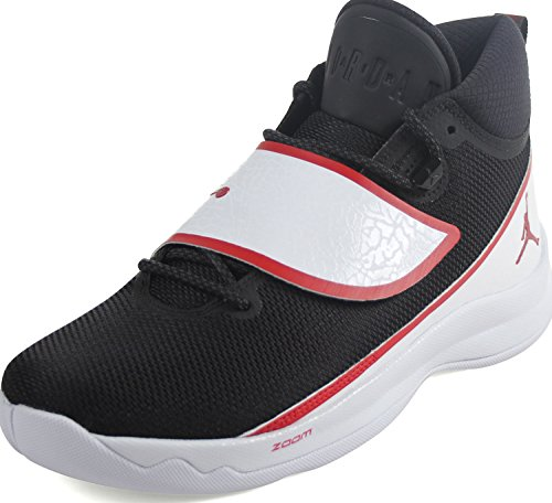 Jordan Mens Super.Fly 5 Shoes, Size: 11 D(M) US, Color Black/Gym Red-White by Jordan