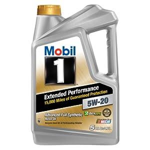 Mobil 1 (120765) Extended Performance 5W-20 Motor Oil - 5 Quart