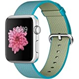 Apple Watch Sport 42mm Silver Aluminum Smartwatch - Scuba Blue Woven Nylon Band