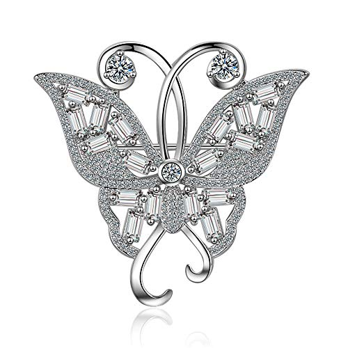 GLEEBROOCH Silver Jewelry Brooch Fashion 925 Sterling Silver Animal Butterfly Shape Pins Brooches for Women Pin Broches ()