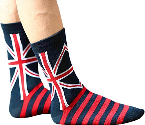 3 Pairs 2 Pairs or 1 Pairs Women Mans Flag Print Colorful Funky Casual Cotton Crew Socks