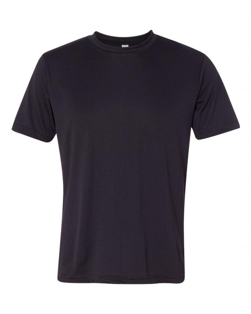 Yoga Clothing For You Men's Moisture Wicking Anti-Microbial Tee Shirt M1009-BLACK