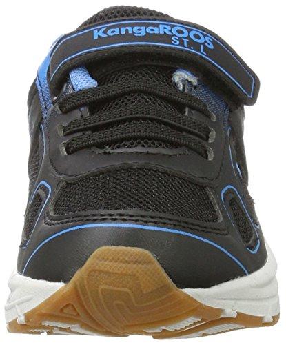 KangaROOS Unisex-Kinder Kuna EV Hallenschuhe Schwarz (Jet Black/Dusk Blue)