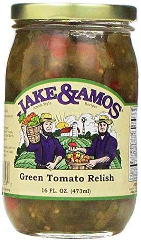 Jake & Amos Green Tomato Relish / 2 - 16 Oz. Jars
