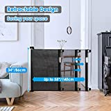 Babepai Retractable Baby Gate Wide Safety Mesh Gate