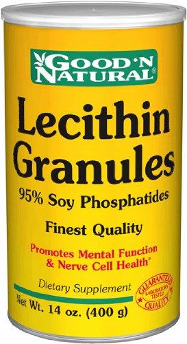 Granules de lécithine de soja - 95% Phosphatides, 14 oz, (Good'n naturel)