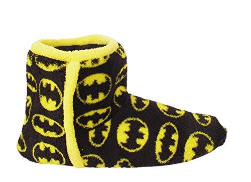 BATMAN HOMBRE Pantuflas Vellón Deslizante NOVEDAD Pantuflas Bota Abrigo Invierno Negro Amarillo