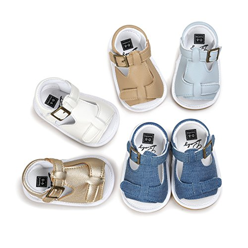 Isbasic Baby Boy's Girls Sandals Pu Leather Rubber Sole Anti-Slip for Summer