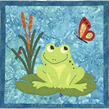 FRANCOIS FROG - Frog Applique Quilted Wall Hanging Pattern