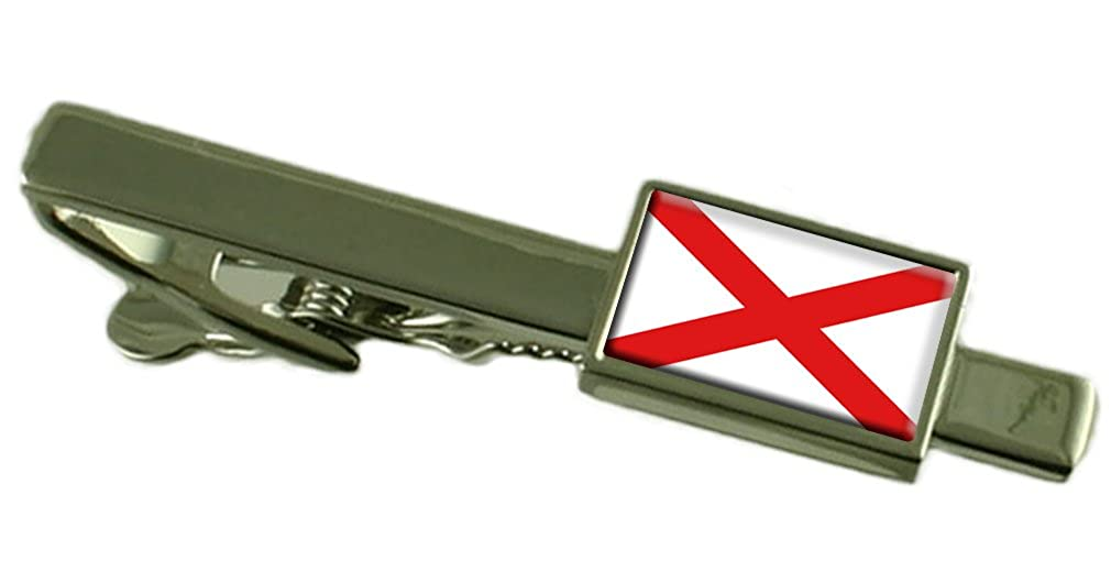 Select Gifts Alabama Flag Tie Clip Bar 55mm Pouch