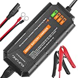 12V 5A Smart Battery Charger, KUFUNG Portable Battery Maintainer with Detachable Alligator/Rings/Clips Fast