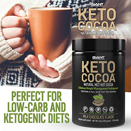 Keto Cocoa - Delicious Sugar Free Hot Chocolate Mix with 6g of MCTs for Appetite Suppressing Ketogenic Diet and Low Carb Lifestyle | No Gluten | 20 Servings 2