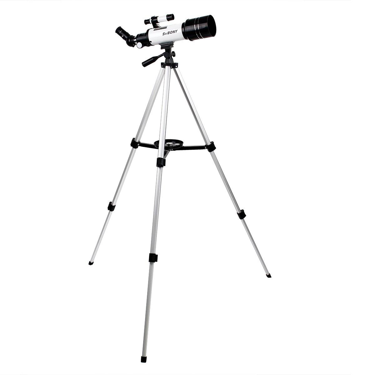 SVBONY SV35 70mm Telescopes for Astronomy with Aluminum Tripod Refractor Telescope for Stargazing