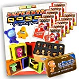 Gogo's Crazy Bones Superstar Series 6 Mega Starter Package (1 Sticker Album + 10 Packets & Crazy Bones Tin Part 2)