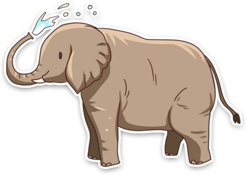 2 Unids Pegatinas de Coche 15.8Cm * 11Cm Animales de Dibujos Animados Elefantes Maleta de Color Laptop Notebook Ventana Automática Etiqueta Impermeable