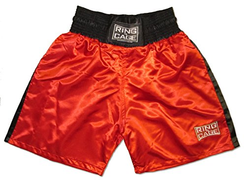 Traditional Boxing Trunks, Blue or Red Color. Kids and Adult Sizes (Small (Kids 4 to 7 Years), -