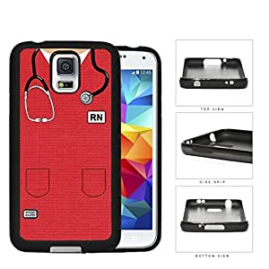 RN Nursing Scrubs (Red) Samsung Galaxy S5 SM-G900 Rubber Silicone TPU Cell Phone Case by lolosakes